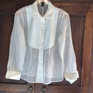 Linda Allard Ellen Tracy sheer blouse